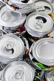 Crushed cans for recycling Stock Photography