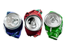 Crushed Cans Royalty Free Stock Image