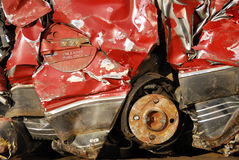 Crushed Car Royalty Free Stock Photography