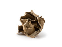 Crushed cardboard box Royalty Free Stock Photos