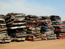 Crushed cars Royalty Free Stock Images