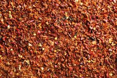 Crushed chili pepper royalty free stock photos