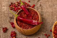 Crushed chilli Stock Image
