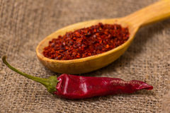 Crushed chilli Royalty Free Stock Photo