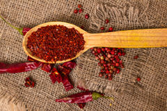 Crushed chilli Royalty Free Stock Images