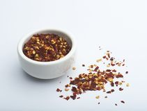 Crushed Chillies Royalty Free Stock Images