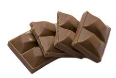Crushed chocolate. Isolated on white background Royalty Free Stock Photo