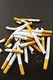 Crushed cigarettes Royalty Free Stock Photography