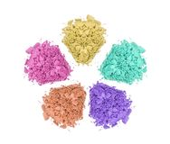 Crushed color eyeshadows Stock Photography