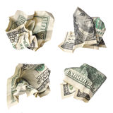 Crushed dollars Royalty Free Stock Images