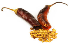 Crushed dried chili peppers Royalty Free Stock Photo