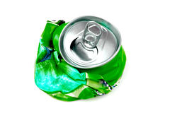 Crushed drink can Stock Photo
