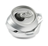 Crushed drink cans Stock Photo