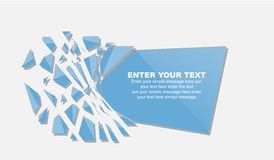 Crushed element template message stickers Stock Photos