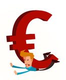Crushed by euro Royalty Free Stock Image