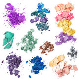 Crushed eye shadow Stock Image