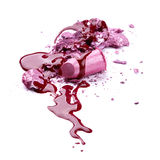Crushed eye shadow, lipstick and nail polish Stock Images