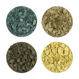 Crushed eye shadows Royalty Free Stock Photography