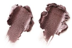 Crushed eyeshadow isolated on white. Background Royalty Free Stock Photography