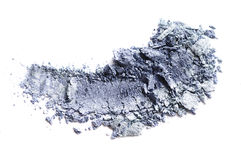 Crushed eyeshadow isolated on white. Crushed gray eyeshadow isolated on white Royalty Free Stock Photography