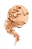 Crushed EyeShadow on white for magazine. Crushed EyeShadow sample on white for magazine Royalty Free Stock Images