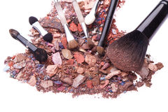 Crushed eyeshadows Stock Image