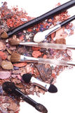 Crushed eyeshadows Stock Images