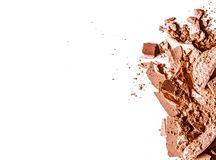 Crushed eyeshadows  on white background. Beauty texture, cosmetic product and art of make-up concept - Crushed eyeshadows  on white background stock photo