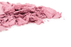 Crushed eyeshadows on white background Stock Photos