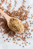 Crushed flax seeds Royalty Free Stock Photos