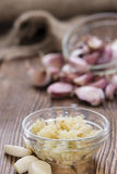 Crushed Garlic Stock Image
