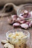 Crushed Garlic stock image