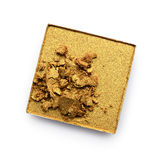 Crushed golden eye shadow Royalty Free Stock Photo