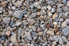 Crushed Gravel background stock photo