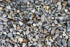 Crushed gravel texture in natural lighting Royalty Free Stock Image