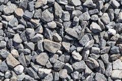 Crushed grey stones Stock Image