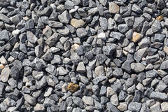 Crushed grey stones Stock Photos