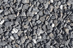 Crushed grey stones Stock Photo