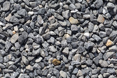 Crushed grey stones Stock Image