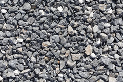 Crushed grey stones Stock Photography