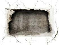Crushed Hole At The Wall Royalty Free Stock Photos