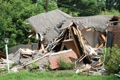 Crushed House Stock Photo