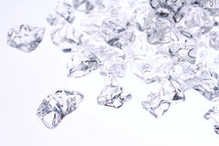 Crushed ice background. Crushed ice on white - selected focus stock photos