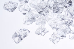 Crushed ice background. Crushed ice on white - selected focus Stock Photography