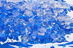Crushed ice, close-up Stock Photos