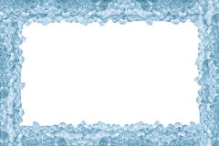 Crushed ice frame stock photography