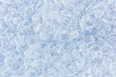 Crushed ice in front of the white background Stock Photos
