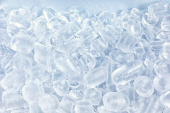 Crushed ice in front of the white background Royalty Free Stock Images