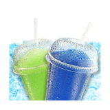 Crushed ice fruit refreshment Royalty Free Stock Photo
