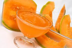 Crushed ice of melon. A cup of crushed ice of melon Royalty Free Stock Photos